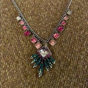 Swarovski Gisele tropical leaves necklace